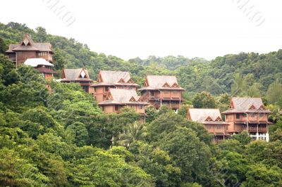 Chalets in the Tropical Rainforest