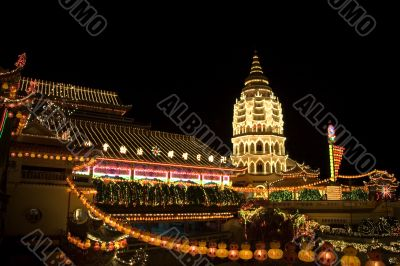 Ayer Itam Pagoda at Night