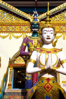 Thai Buddhist Temple Statues