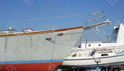 Boats Awaiting Repairs