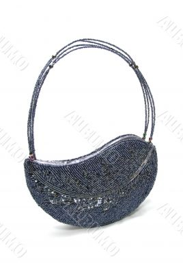 Leaf Shape Beaded Hand Bag