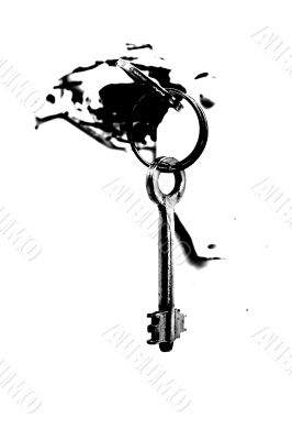Keys in the lock of the safe