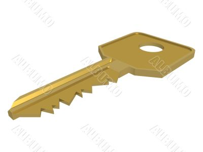 Key. Isolated 3D object.