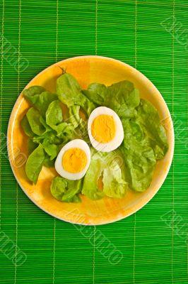 Egg and lettuce