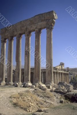 Columns, ruins of Temple of Jupiter