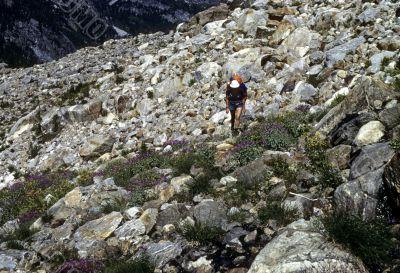 Hiker, cross country