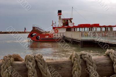 Ship on moor