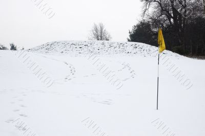 Hole in snow