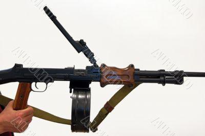 Close-up of Soviet machine-gun RPD-44 I