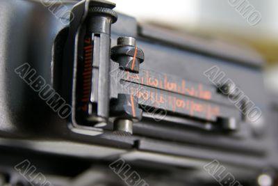Close-up of Soviet machine-gun RPD-44 VI