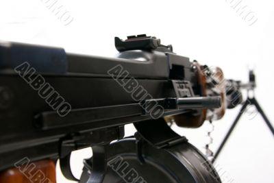 Close-up of Soviet machine-gun RPD-44 VII
