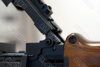 Close-up of Soviet machine-gun RPD-44 IX