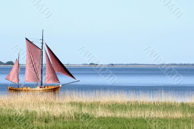 Sailing boat on the water