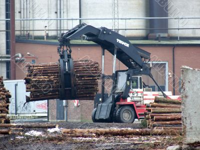 Truck Loading Timber