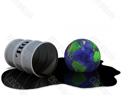 Oil Drum Earth Oilspill