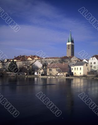 Baroque town with church steeple