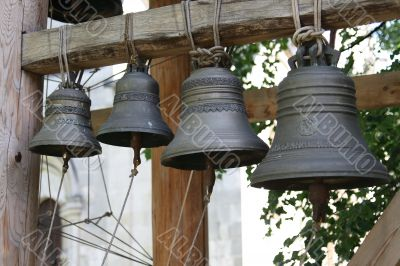 Bells, hanging in a line 2