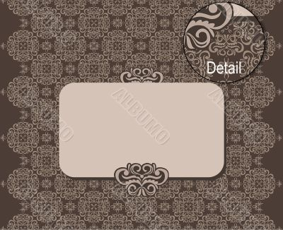 vector pattern with banner for your text