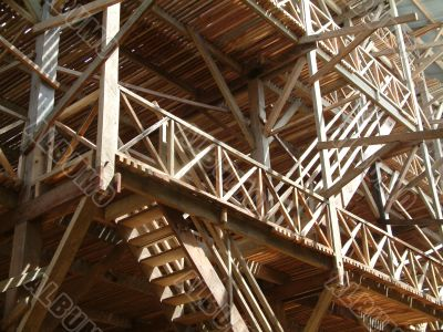 Air Drying Wooden Building