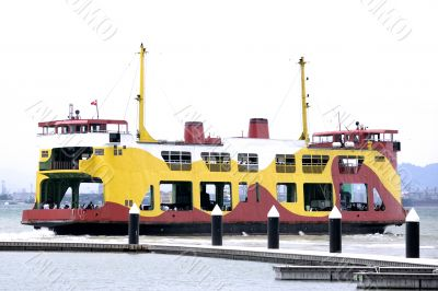 Colourful Passenger and Car Ferry