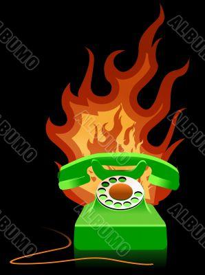 Hot Line - Burning Telephone