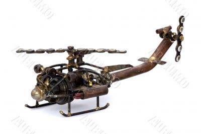Scrap Helicopter Model