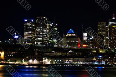 Walsh Bay and Sydney Skyline