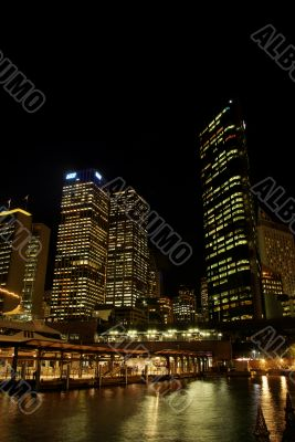 Sydney Skyline and Circular Quay at Night