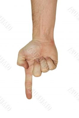 Hand Pointing - With clipping path