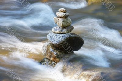 little watercourses with many stones