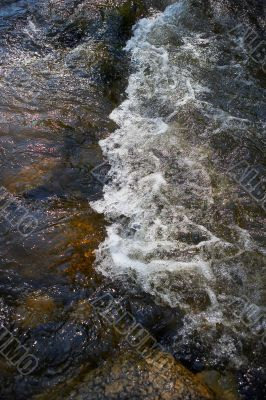 small rapids in a river