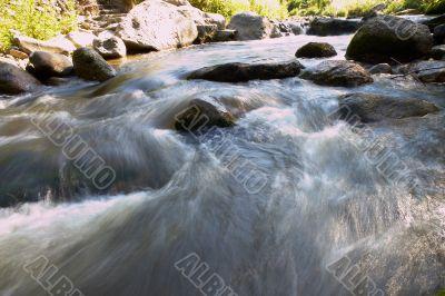 small rapids in a small river