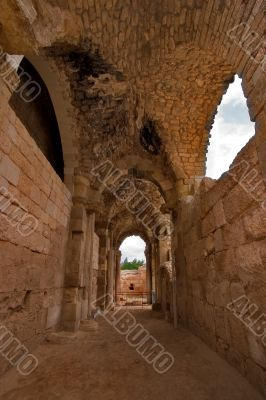 Antique temple nearby Ashkelon in Israel