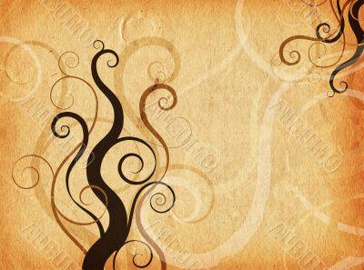 Grunge swirls and curls