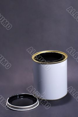 Blank White Paint Tin With Lid