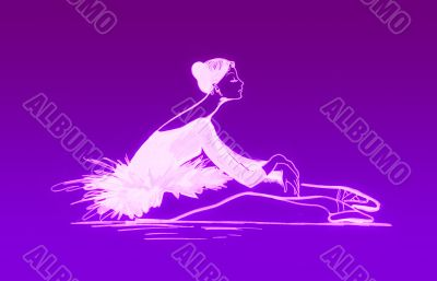 Ballet dancer in violet colours