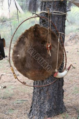 Beaver hide and personal items