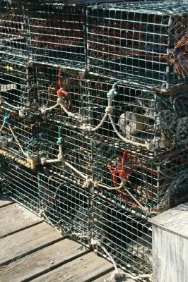 Detail, Lobster traps and floats