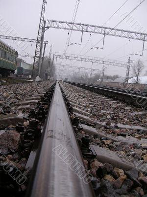Rails of the railroad