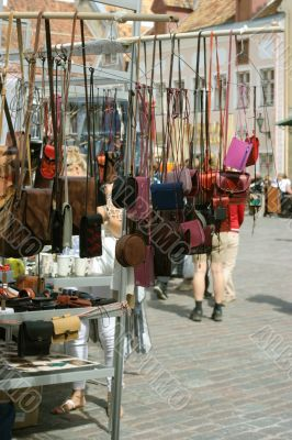 bags on medieval market