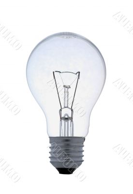 Bright Idea - Clear Lightbulb With Clipping Path