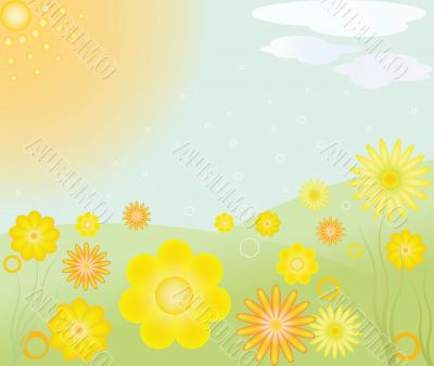 Abstract art floral vector illustration
