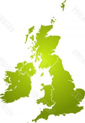 uk map green