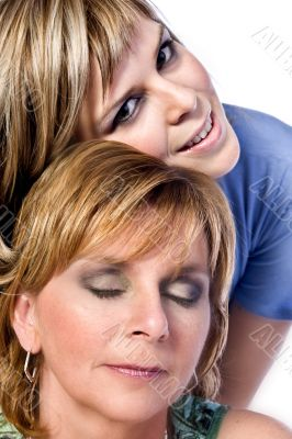 Mother and Daughter enjoy
