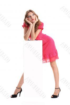 girl and rectangle