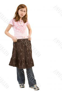 Trying skirt