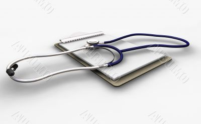 Stethoscope on clipboard