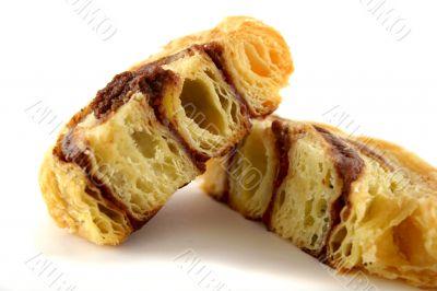 Sliced Chocolate Danish Pastry