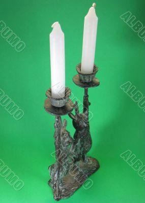 rabbit bunny candlesticks