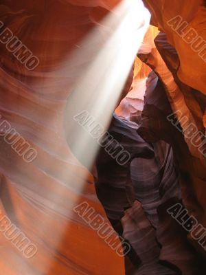 Sun Beam in Antelope Canyon